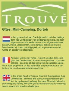 Trouve, Gites, Mini-Camping en Dortoir